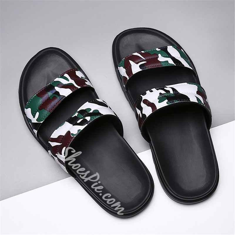 Shoespie Camouflage Summer Print Casual Men's Slippers