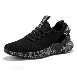 Shoespie Low-Cut Upper Lace-Up Mesh Men's Sneakers