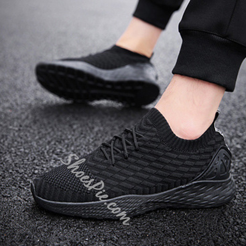 Shoespie Lace-Up Men's Casual Mesh Sneakers