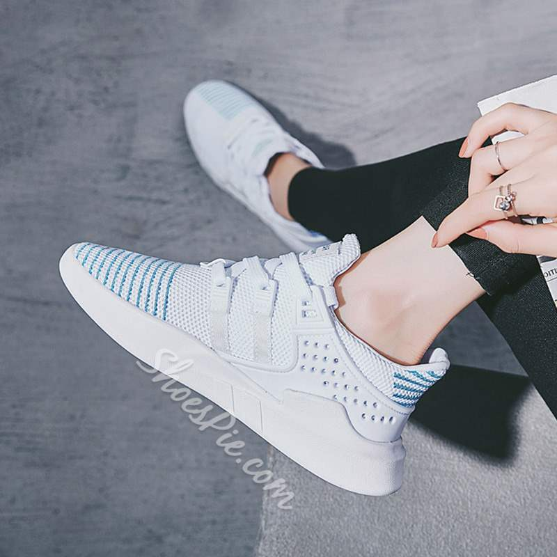 Shoespie Breathable Lace-Up Flat Sneakers