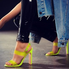 Shoespie Sexy Chunky Heel Slingback Strap Open Toe Jelly Sandals