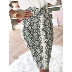 Bodycon Serpentine Knee-Length Fashion Women's Skirt