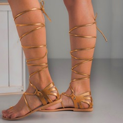 Shoespie Cross Strap Lace -Up Stylish Gladiator Sandals