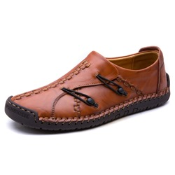 Shoespie Leather Stitching Men's Shoes