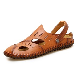 Shoespie Low-Cut Upper Flat Heel Round Toe Men's Sandals