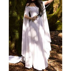 Floor-Length Long Sleeve Summer Women's Dress