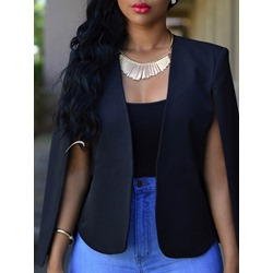 Long Sleeve Plain Fashion Women's Blazer