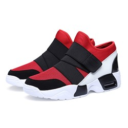 Shoespie Western Velcro High-Cut Upper Cotton Men's Sneakers
