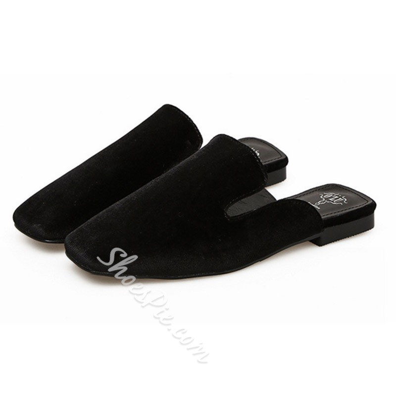 Shoespie Backless Casual Flat Slippers