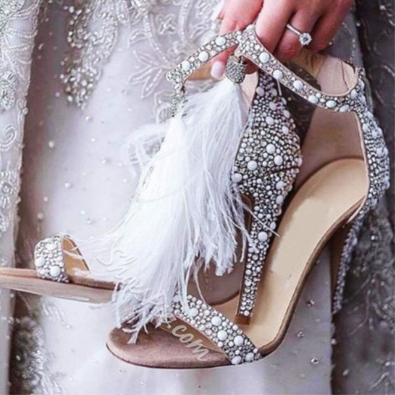 Shoespie Stylish Fringe Stiletto Heel Zipper Western Bridal Shoes