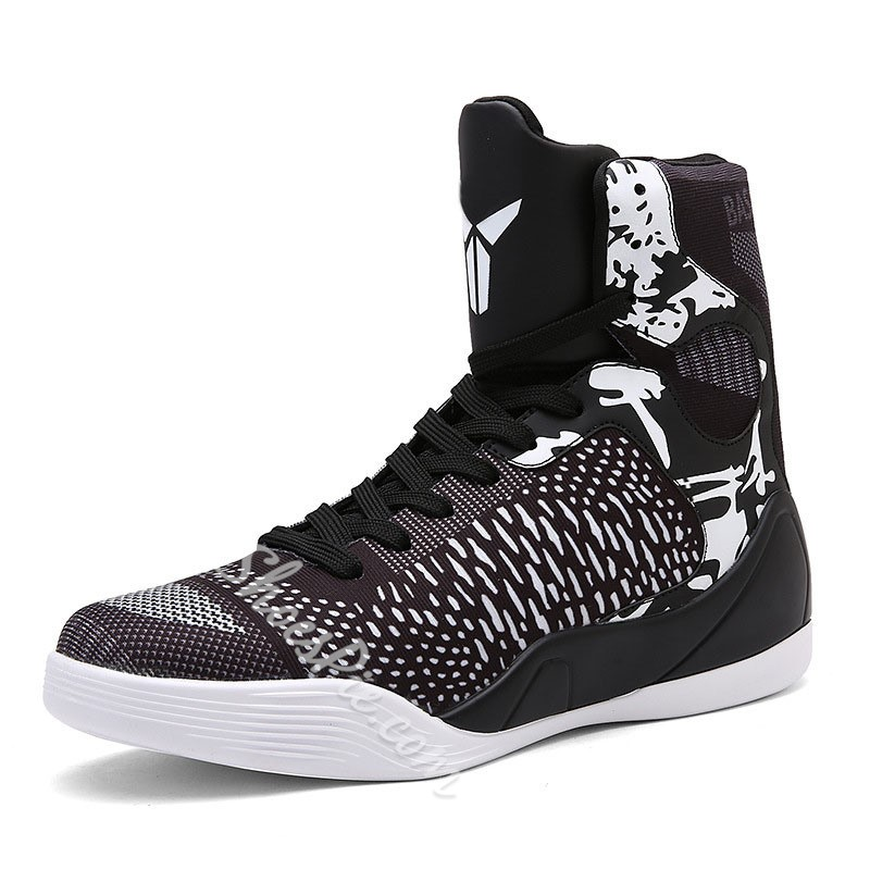 Shoespie High Cut Upper Lace-Up Thread Men's Sneakers