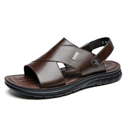 Shoespie Backless Leather Mens's Sandals