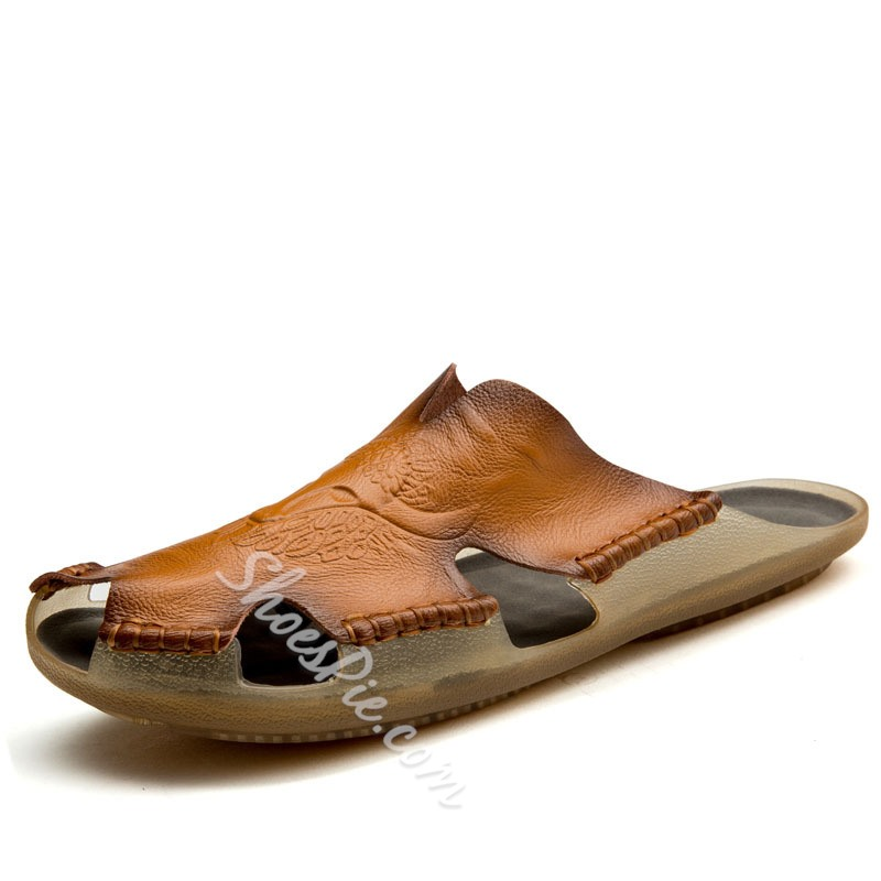Shoespie Hollow Men's Backless Summer Sandals