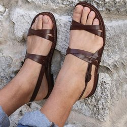 Shoespie Trendy Brown Open Toe Flat With Buckle Sandals