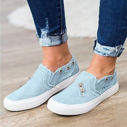 Shoespie Slip-On Canvas Denim Sneakers