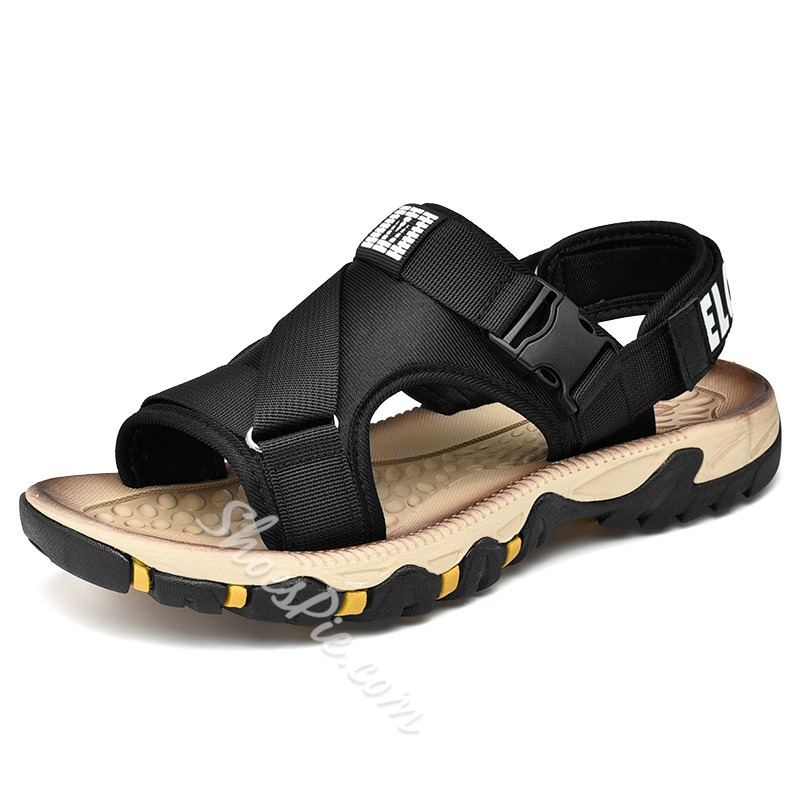 Shoespie Soft Hook Loop Men's Beach Sandals