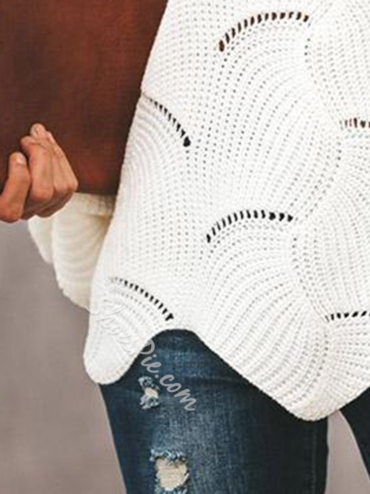 Asymmetric Batwing Sleeve Thick Mid-Length Women's Sweater