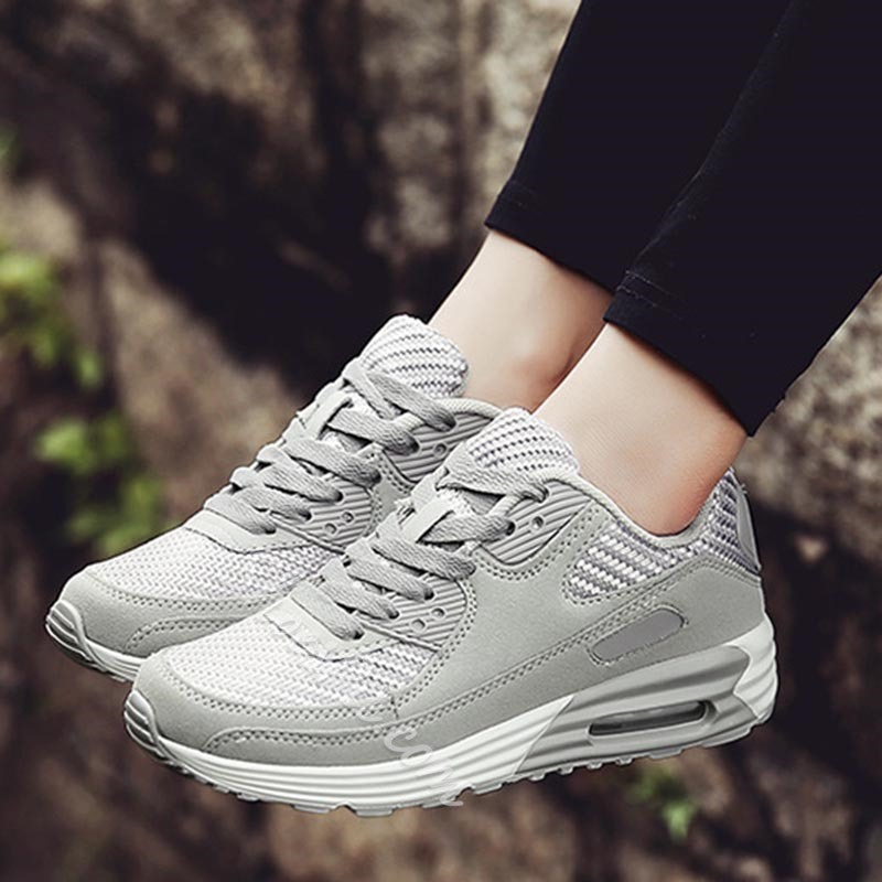 Shoespie Trendy Lace-Up Mesh Sneakers