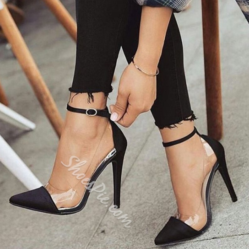 Shoespie Buckle Buckle Stiletto Heels Banquet Prom Shoes
