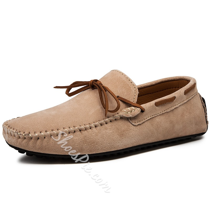 Shoespie Flat Heel Round Toe Men's Driving Loafers