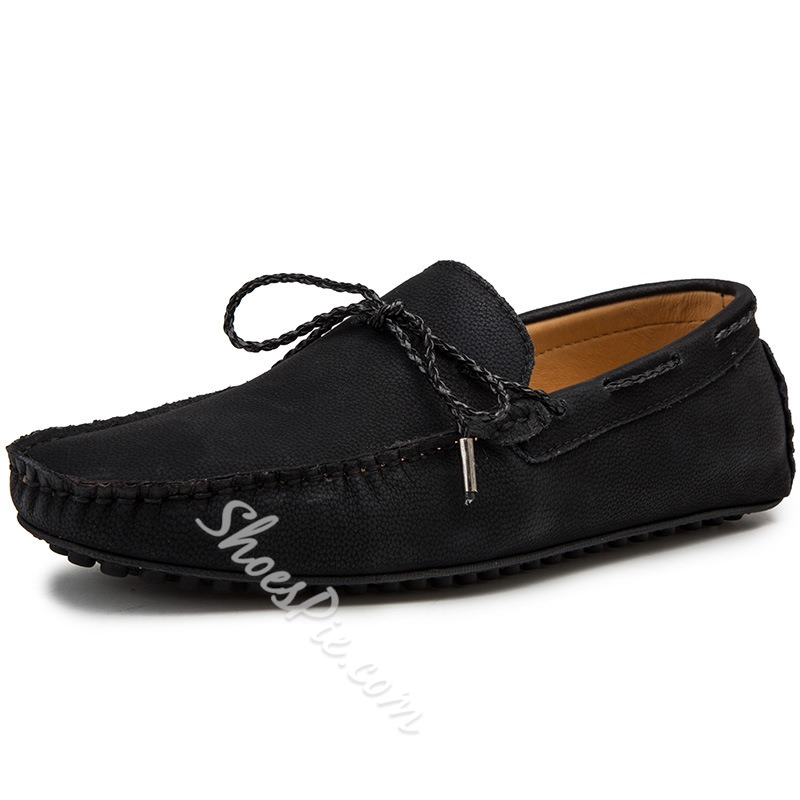 Shoespie Flat Heel Plain Slip-On Men's Loafers