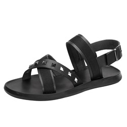 Shoespie Buckle Rivet Soft Men's Sandals