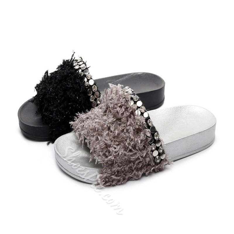 Shoespie Rivet Slip-On Flat Casual Slippers