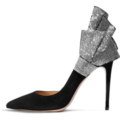 Shoespie Beaded Pointed Toe Stiletto Heel Shoes