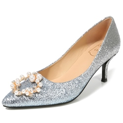 Shoespie Glitter Stiletto Heel Rhinestone Shoes