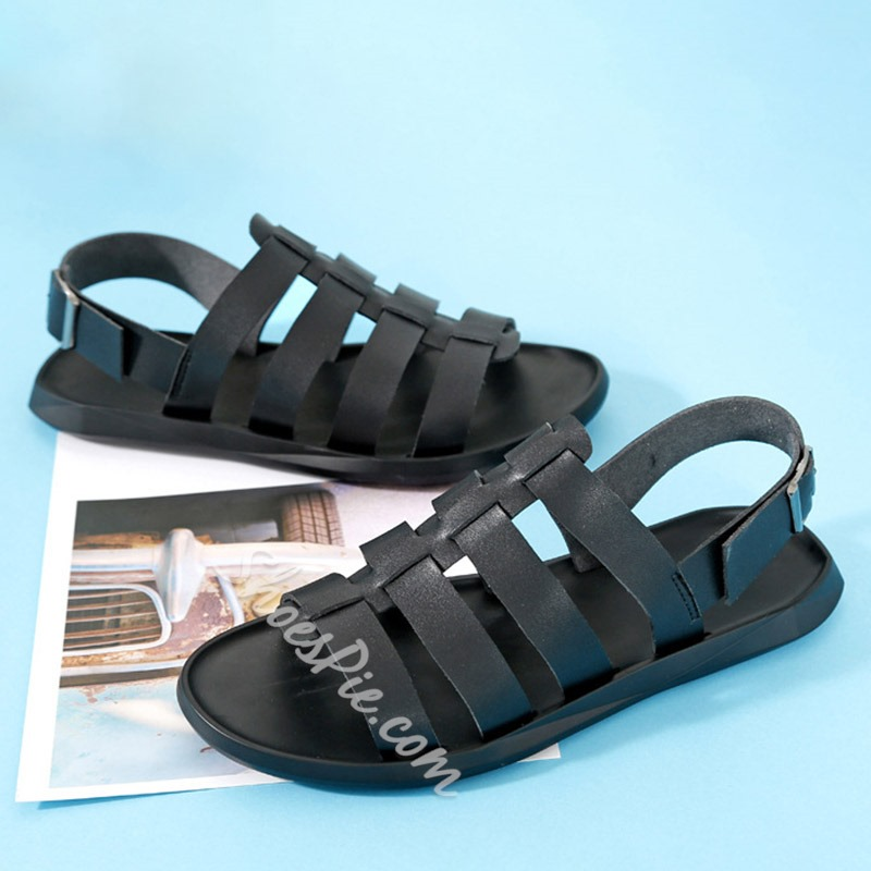 Shoespie Leather Buckle Soft Men's Sandals