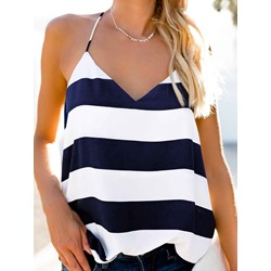 Knitted Fabric Summer Spaghetti Straps Standard Women's Tank Top