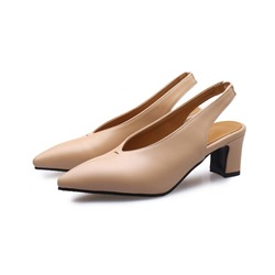 Shoespie Trendy Slingback Strap Pointed Toe Low Heels
