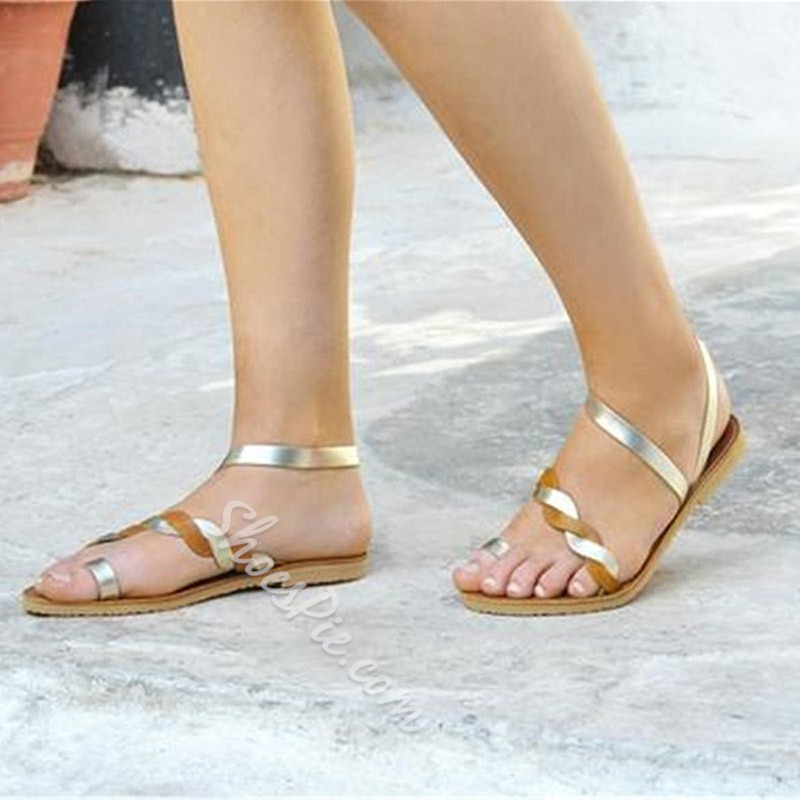 Shoespie Summer Toe Ring Flat Casual Sandals