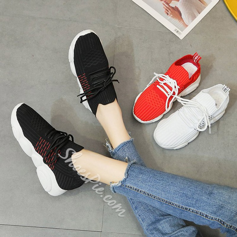 Shoespie Breathable Casual Lace-Up Trainers
