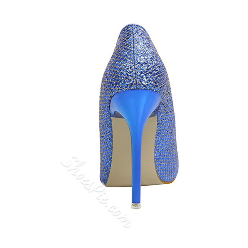 Shoespie Glitter Prom Pointed Toe Stiletto Heels