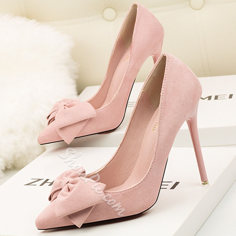 Shoespie Bowknot Stiletto Heel Prom Pumps