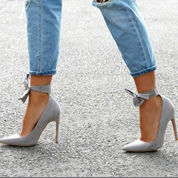 Shoespie Bowknot Sexy Pointed Toe Stiletto Heels