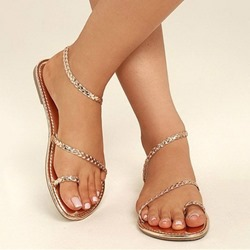 Shoespie Stylish Slip-On Toe Ring Flat Sandals
