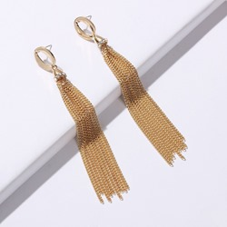 Dazzling Metal Tassel Elegant Party Earrings