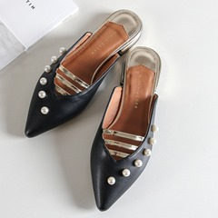 Shoespie Stylish Closed Toe Backless Slippers
