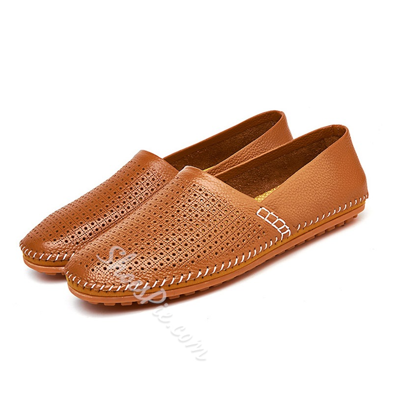 Shoespie Hollow Large Size Men's Loafers