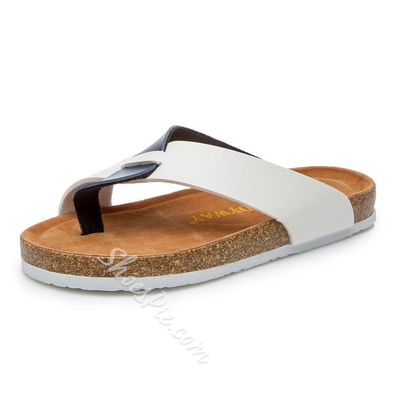 Shoespie Clip Toe Flat Summer Slippers