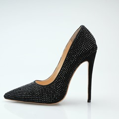 Shoespie Rhinestone High Heel Pumps