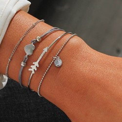 E-Plating European Female Bracelets Set