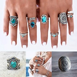 Alloy Gemmed Vintage Party Rings