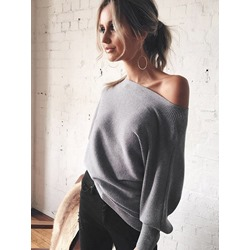 Gray Thin Standard Women's Sweater
