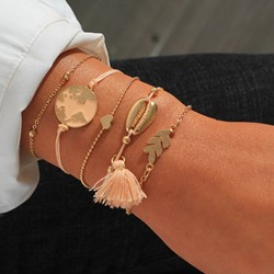 European E-Plating Tassel Female Bracelets