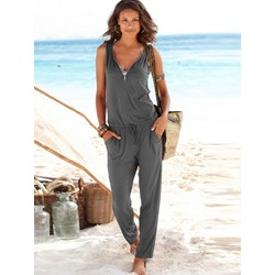 Full Length Zipper Casual Loose Women's Jumpsuit