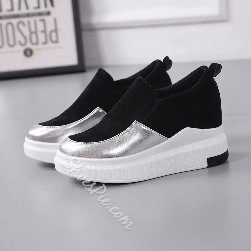 Shoespie Increasing Heel Platform Flat Sneakers