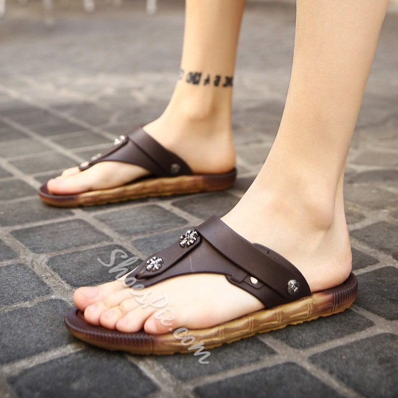 Shoespie Men's Casual Thong Sandals